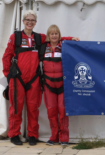 Skydiving wives fundraise for Taxi Charity