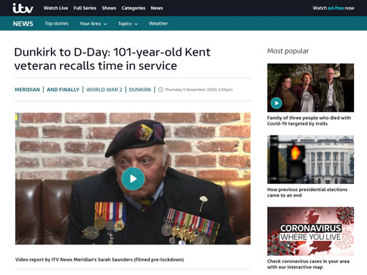 Dunkirk to D-Day: 101-year-old Kent veteran recalls time in service, ITV Meridian