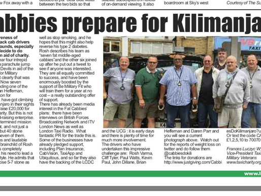 Cabbies prepare for Kilimanjaro, The Badge
