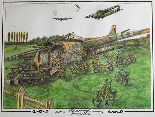 'My Memory' - a watercolour by war veteran, Bill Gladden