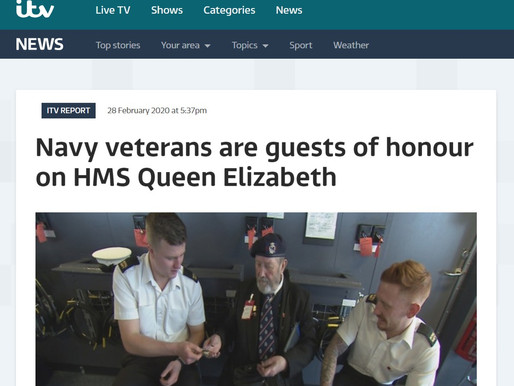 Navy veterans are guests of honour on HMS Queen Elizabeth, ITV News