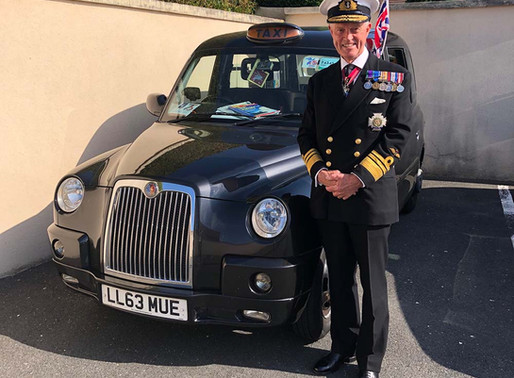 """""""I am hugely proud to be a patron of the Taxi Charity"""" - Vice-Admiral Sir Adrian Johns KCB CBE DL"""