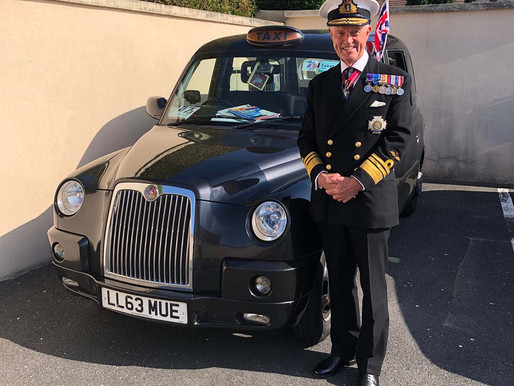 """I am hugely proud to be a patron of the Taxi Charity"" - Vice-Admiral Sir Adrian Johns KCB CBE DL"