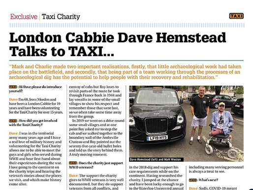 London cabbie Dave Hemstead talks to TAXI...