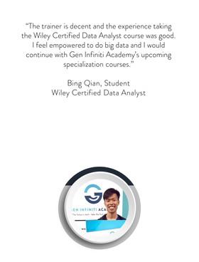 WILEY Certified Data Analyst | Gen Infiniti Academy