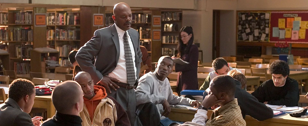 Samuel L. Jackson as Coach Carter speaking to his team