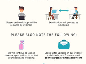 [NOTICE] Gen Infiniti Academy's COVID-19 Precautionary Measures