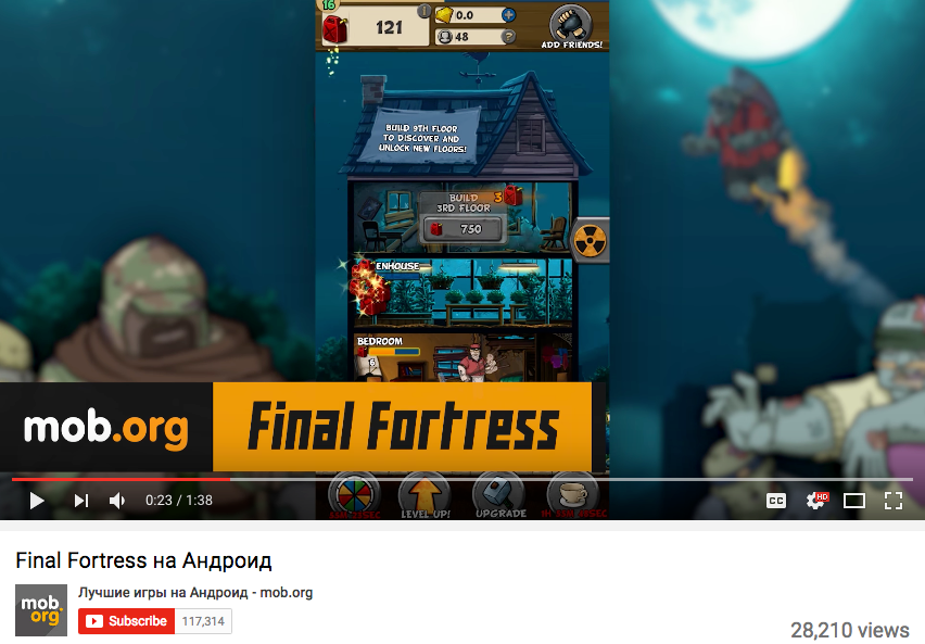 Mob.org - Final Fortress - Idle Survival Youtube Review