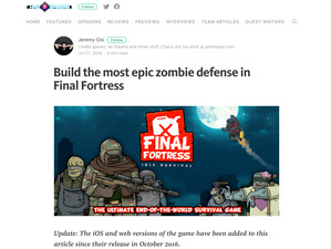 Hao Gamers Review: Build the most epic zombie defense in Final Fortress