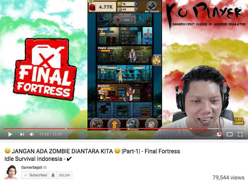 GamerSejati - Final Fortress - Idle Survival Youtube Review
