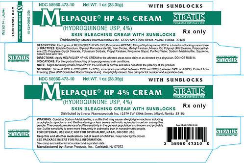 Stratus Melpaque Hydroquinone Cream USP 4% with Sunblocks 1oz