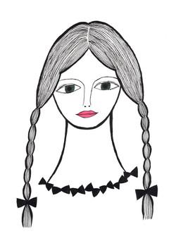三つ編みの女の子_180