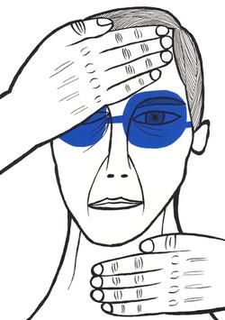 青メガネの男-1