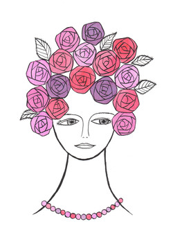 頭が薔薇の女_180