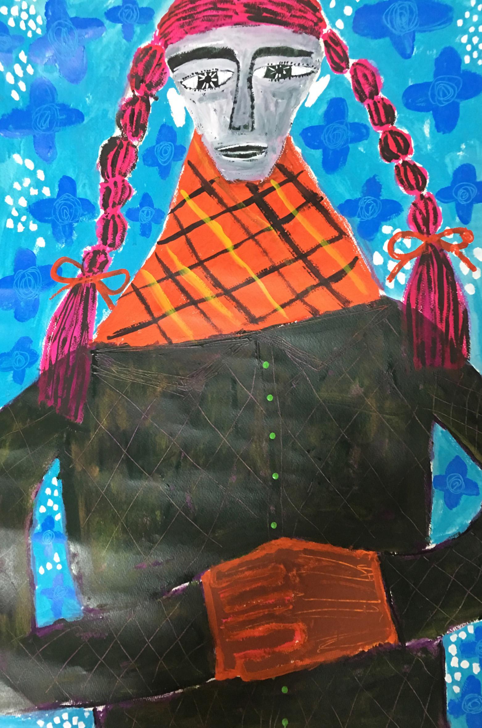 三つ編みの男