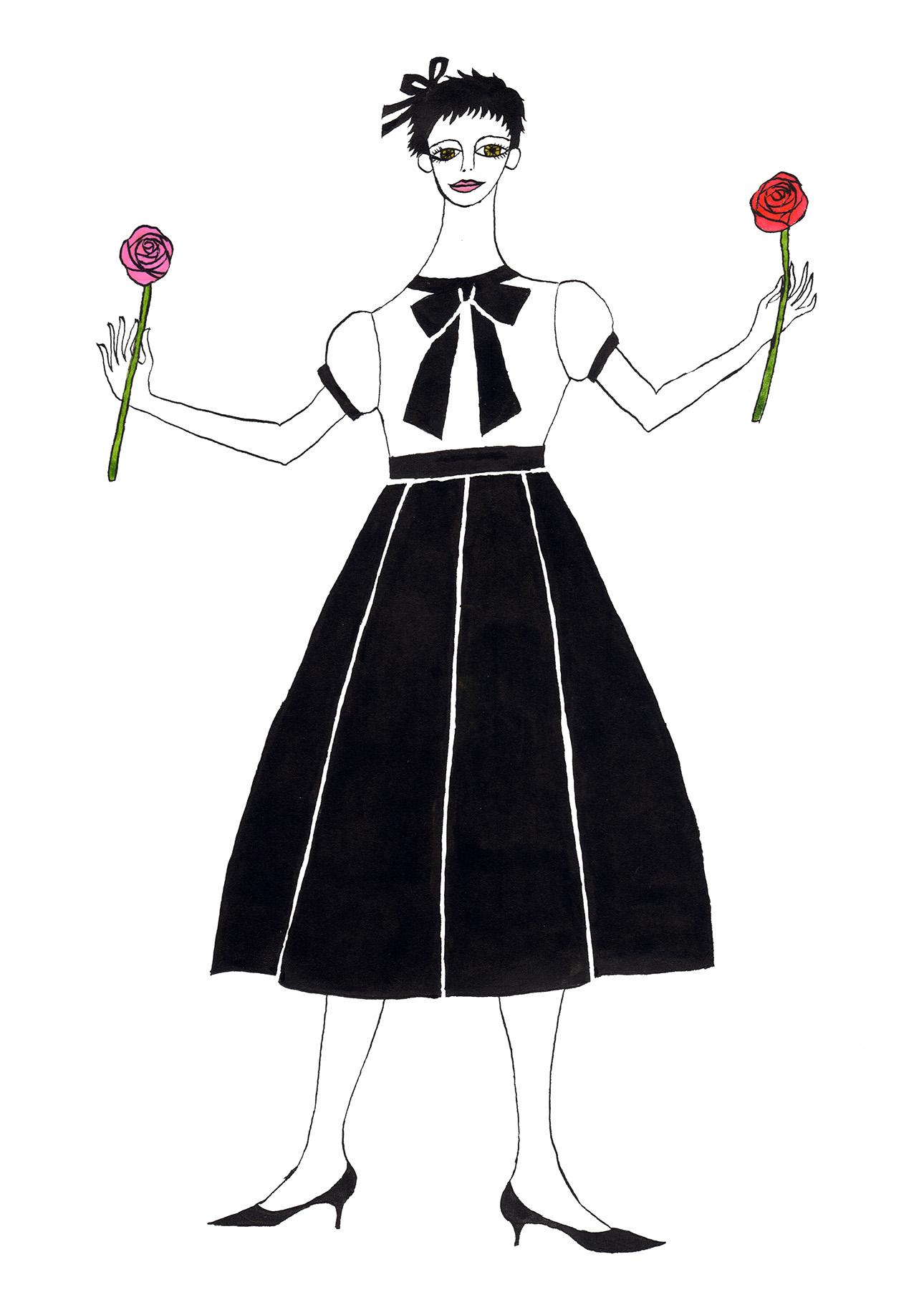 両手に薔薇の女_180
