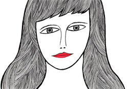 赤い唇の女-1