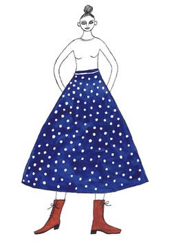 青スカートの女-1