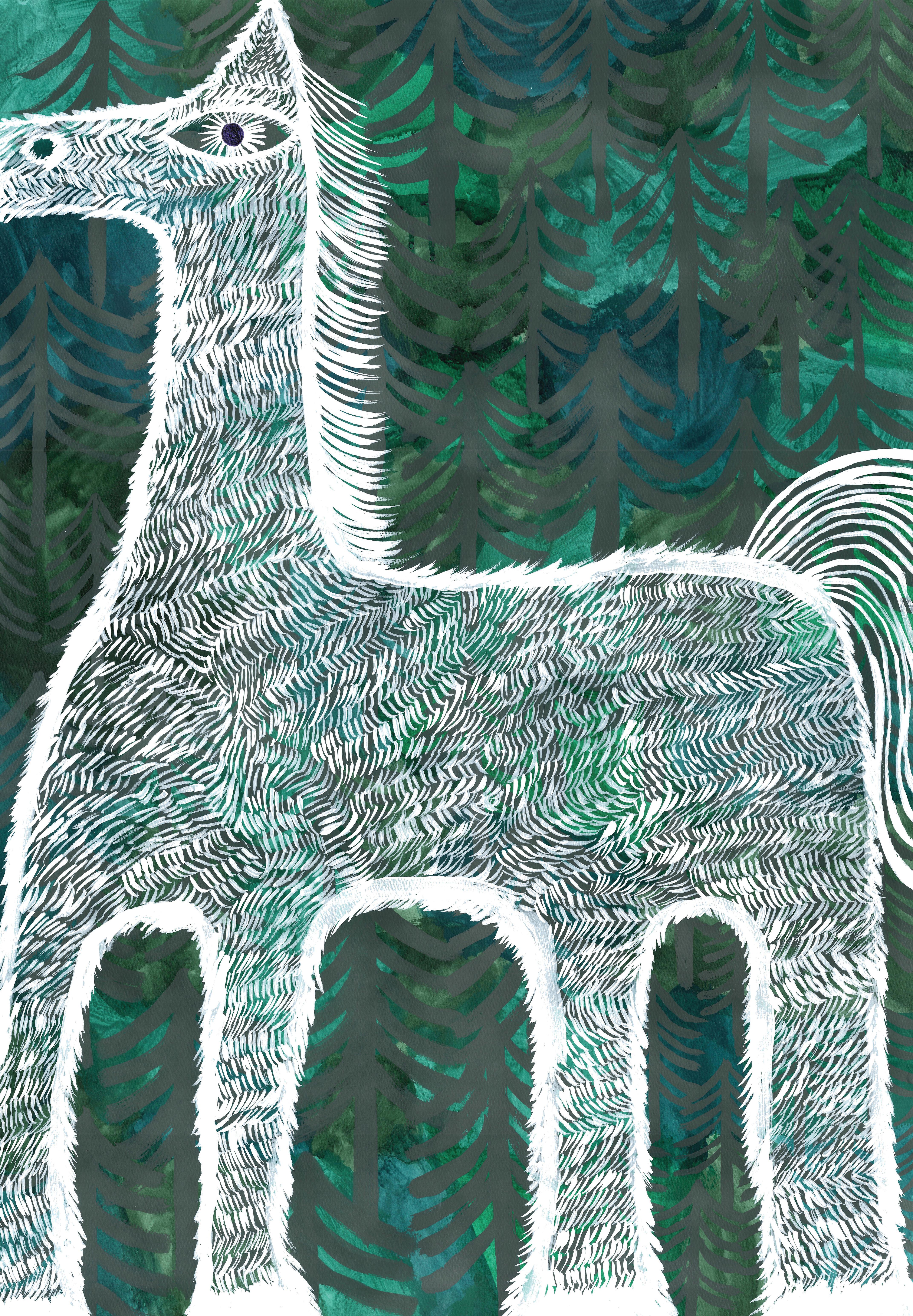 森と馬_200