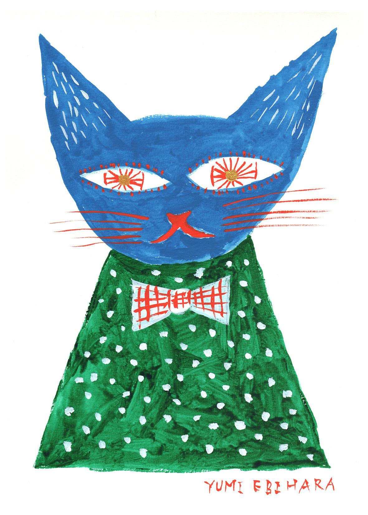 水彩猫_150