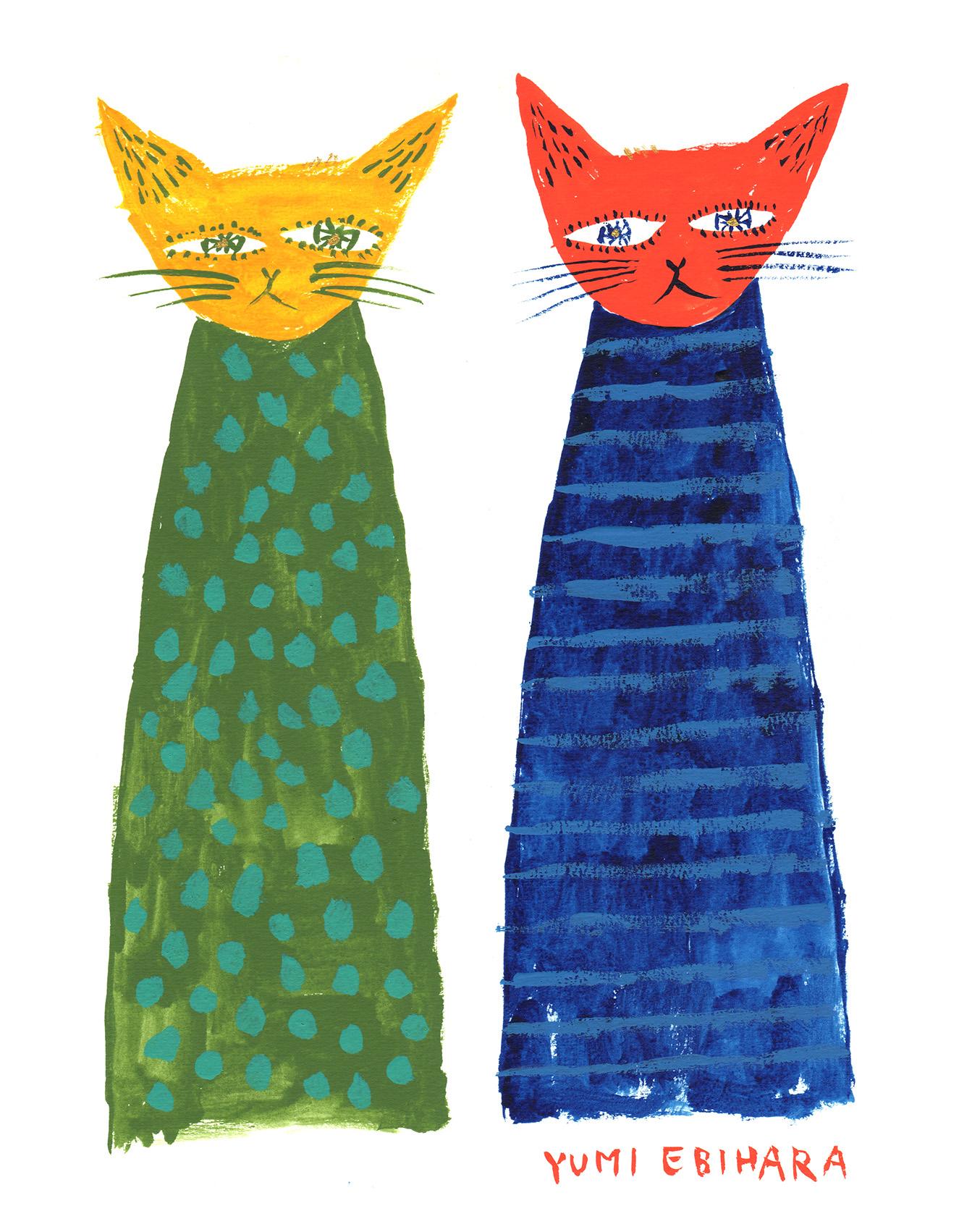 二匹の猫_150