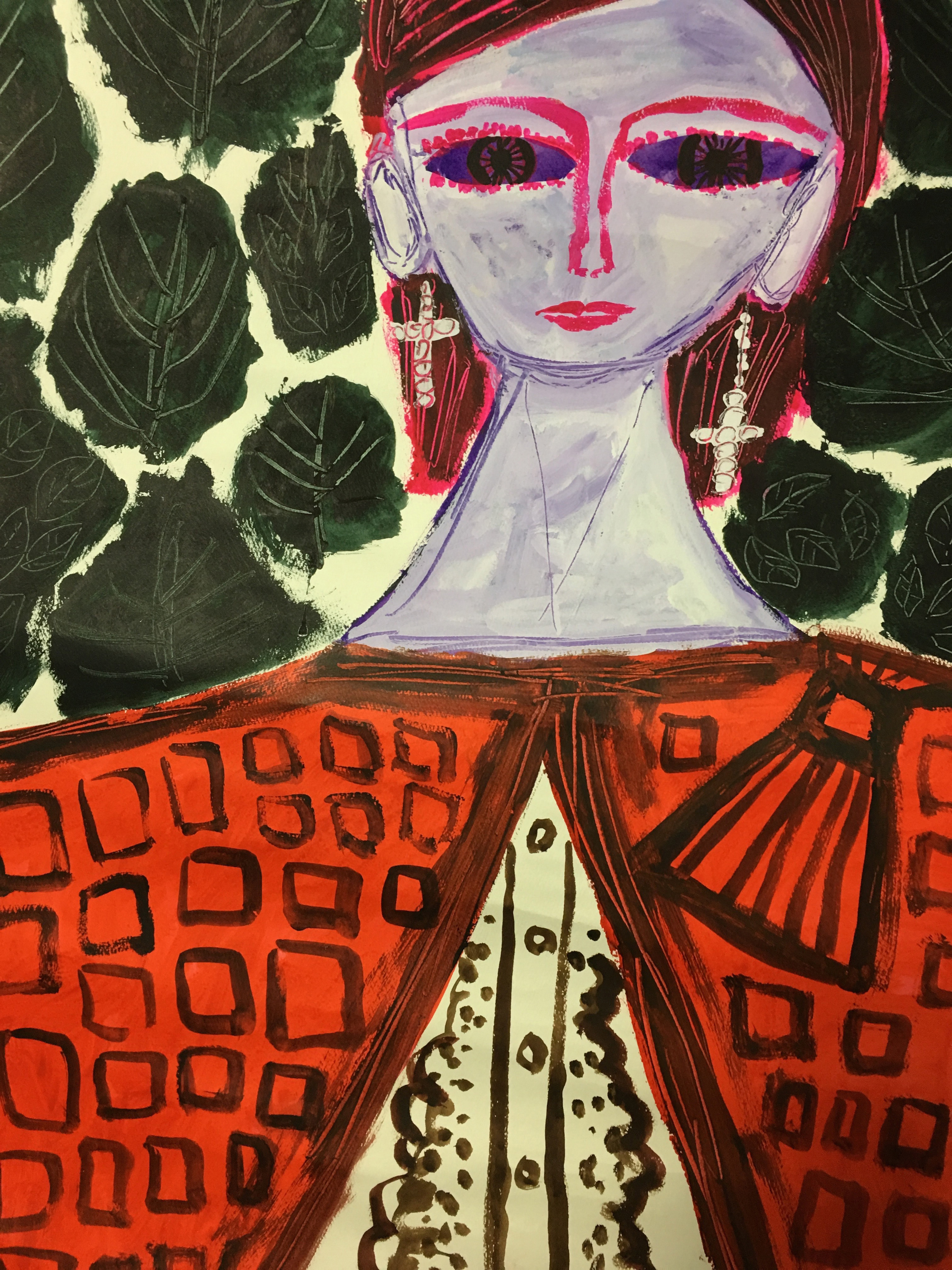 赤いカーデの女