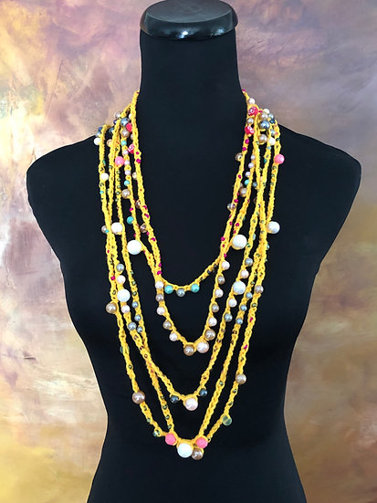 Summer Fun with Yellows! 5 Necklaces!