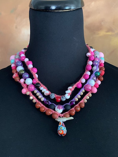 Summer Sunsets Flying By - 3 necklaces