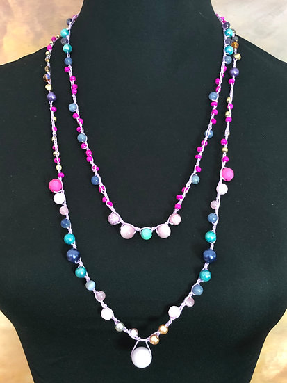 Two Beaded Crochet Necklaces