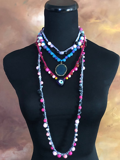 Summer Bohemian Chic - 4 Necklaces