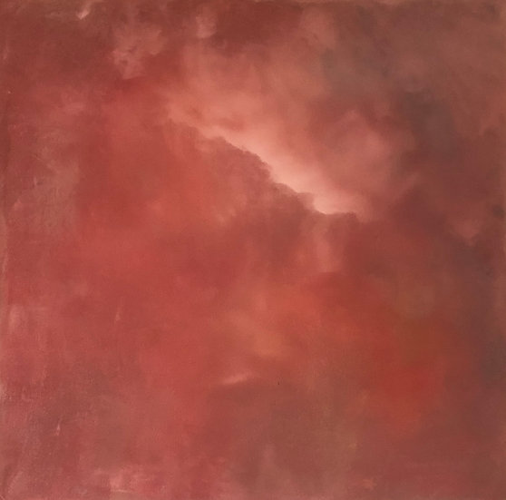 Sunset Flames - acrylic on canvas