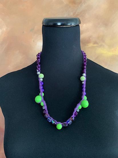 Summer Fun! Beaded Crochet Necklace