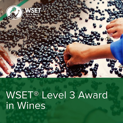 WSET Level 3 Award in Wines Saturday Course - May & June
