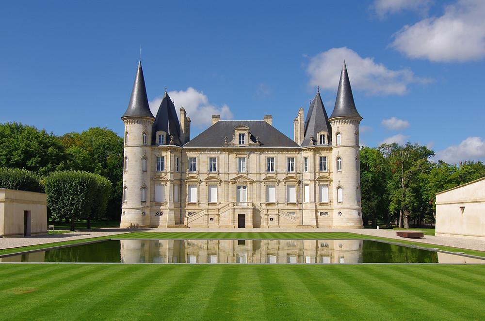 Château Pichon Baron in Bordeaux.