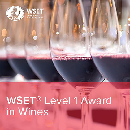 WSET Level 1 Award in Wines Sunday June 6th