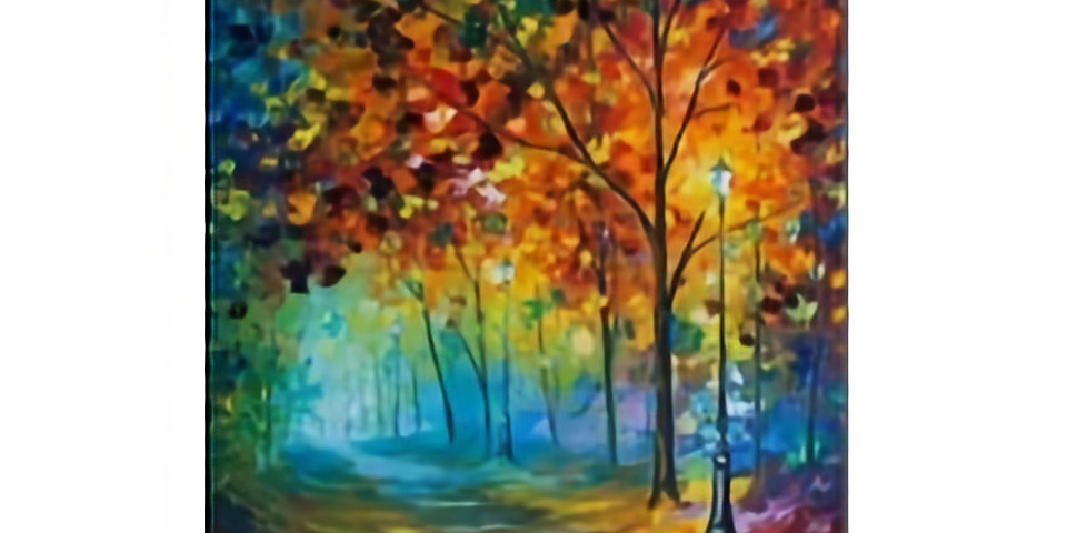 Colorful Night with Oil Paints, Paint Night