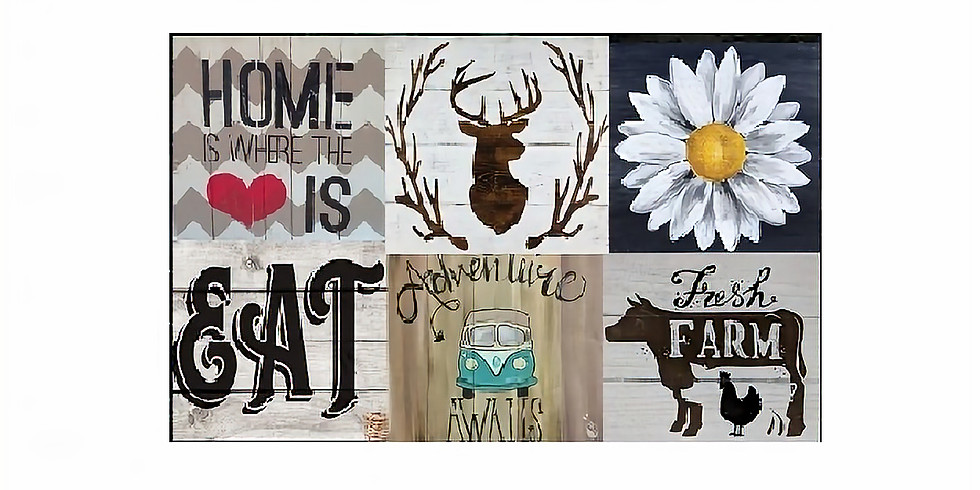 Create Your Own Wood Plank, Paint Night