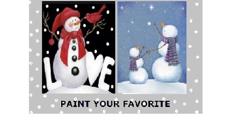 Snowman Love, Paint Night