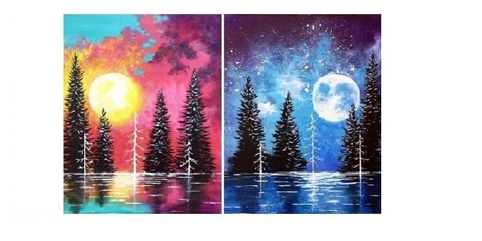 At the Lake, Paint Night