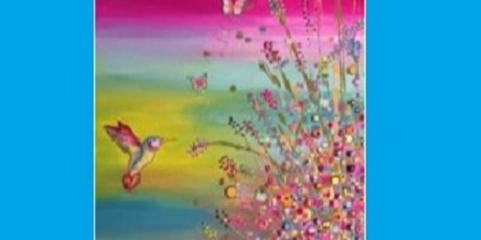 Colorful Hummingbird, Paint Night
