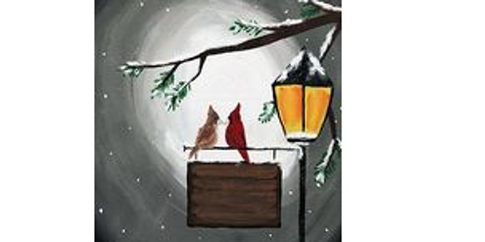 Personal Light Post, Paint Night