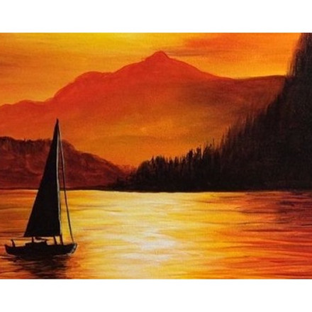 Sunset Sailing with Oil Paints, Paint Night