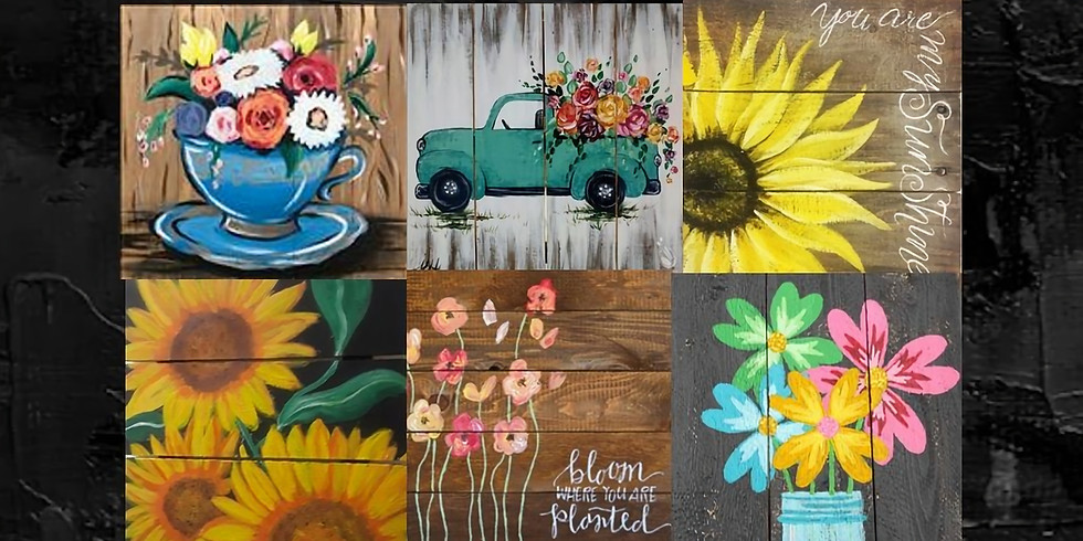 Paint Your Own Wood Plank, Paint Night