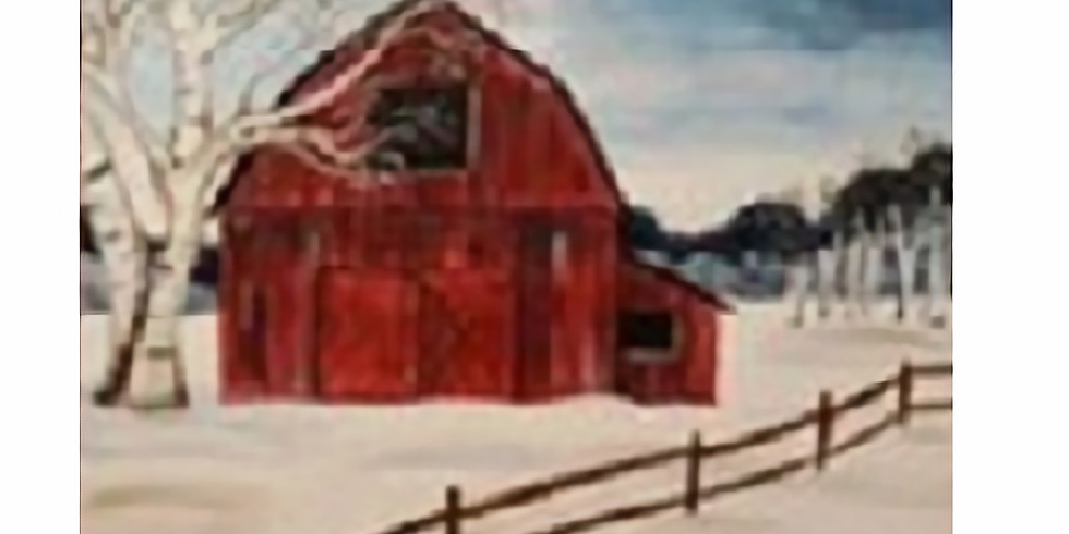 Red Barn in Winter, Paint Night