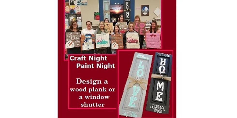 Craft Night, Paint Night