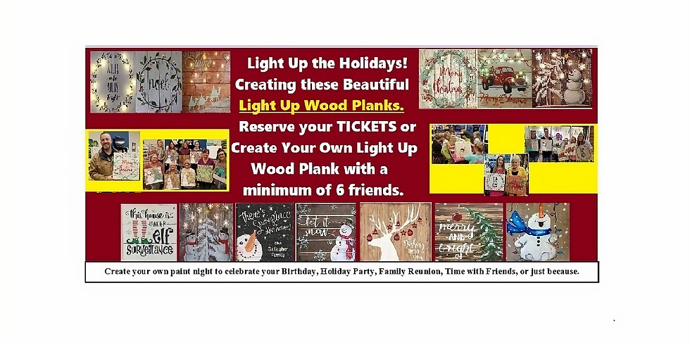 Create Your Light Up Wood Plank, Paint Night