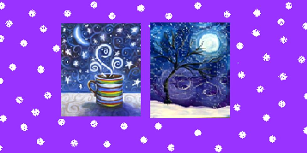 Snowy Night, Paint Night