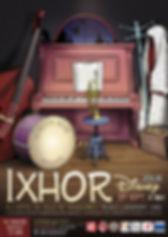 Affiche pour le concert/spectacle de IXHOR autour des chansons de Disney, interprétées en jazz