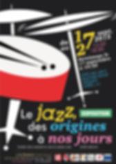 """Affiche pour l'exposition """"Le Jazz, des origines à nos jours"""""""