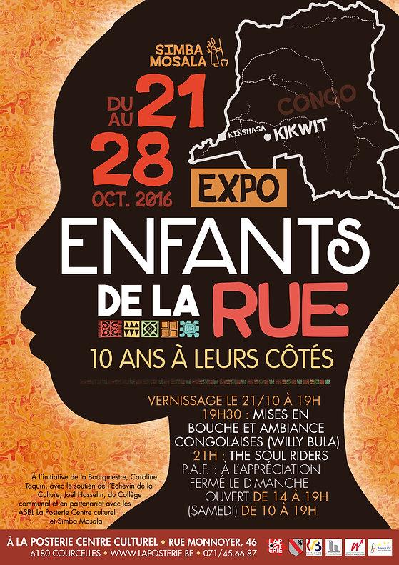 """Affiche pour l'exposition photo """"Enfants de la Rue : 10 ans à leurs côtés"""""""